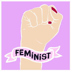 Female Fist Fighting For Equality Sticker