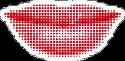Female Lips In A Halftone Style Sticker
