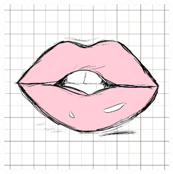 Female Pale Pink Lips Sticker