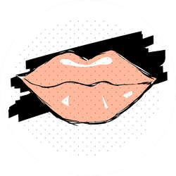 Female Pink Lips Sticker