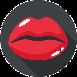 Female Red Lips Icon Sticker