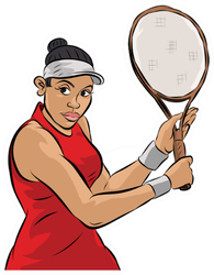 Female Tennis Player Sticker
