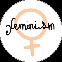 Feminism Doodle Sticker