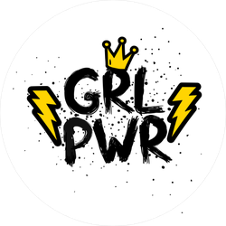Feminism Girl Power Crown Sticker
