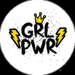 Feminism Girl Power Crown Sticker