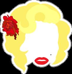 Femme Fatale Marilyn Sticker
