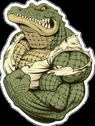 Ferocious Alligator Bodybuilder Sticker
