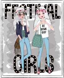 Festival Girls Fashion Sticker