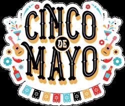 Festive Cinco De Mayo Sticker