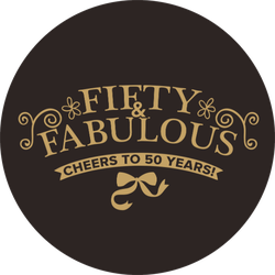Fifty And Fabulous Sticker