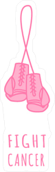 Fight Cancer Boxing Gloves Sticker