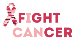 Fight Cancer Breast Cancer Awareness Ribbon Sticker