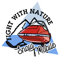 Fight With Nature Snow Mobile Sticker