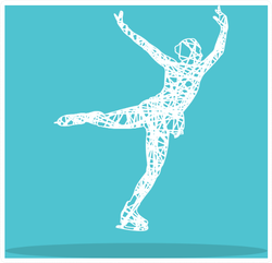 Figure Skater Girl Logo Sticker