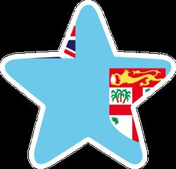 Fiji Flag Star Sticker