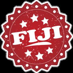 Fiji Grunge Stamp Sticker