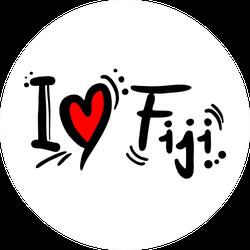Fiji Love Sticker