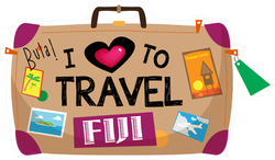 Fiji Themed Colorful Baggage Sticker
