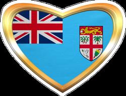 Fijian National Flag Heart Sticker