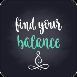 Find Your Balance Sticker