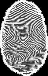 Fingerprint Icon Sticker
