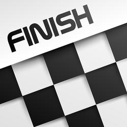 Finish Winning Checkered Sticker