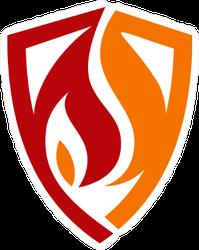 Fire And Shield Logo Sticker