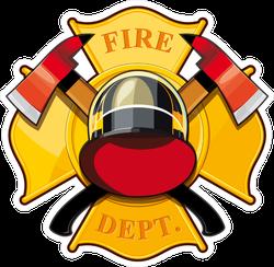 Fire Department Badge Sticker