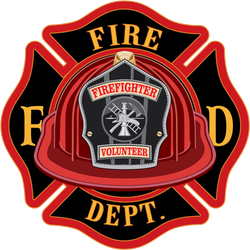 Fire Department Cross Volunteer Red Helmet Sticker