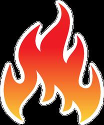 Fire Flame symbol Sticker