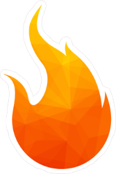 Fire Flames Icon Sticker