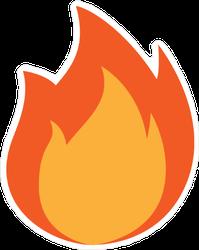 Fire Icon Flames Sticker