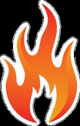 Fire Icon Sticker
