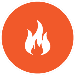Fire Logo Circle Sticker