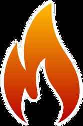Fire Logo Flames Sticker