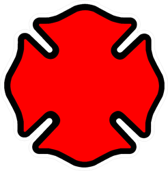 Firefighter Emblem Cross Shape Sticker