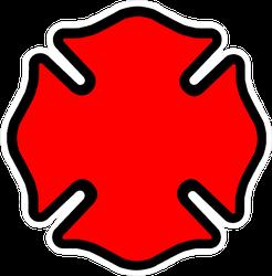 Firefighter Emblem Cross Shape Sticker