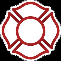 Firefighter Emblem Icon Sticker