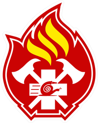 Firefighter Flame Emblem Sticker