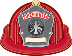 Firefighter Helmet Illustration Sticker