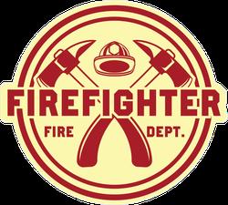 Firefighter Logo Badge Sticker