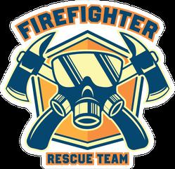 Firefighter Rescue Team Sticker