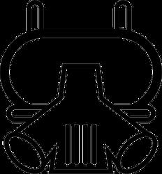 Firefighter Respirator Mask Sticker