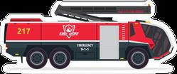 Firefighter Truck Illustration Sticker