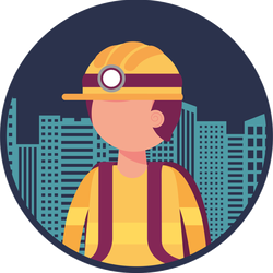 Firefighter With Cityscape Sticker
