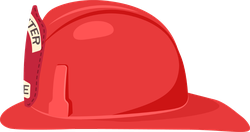 Fireman Helmet Side View Sticker