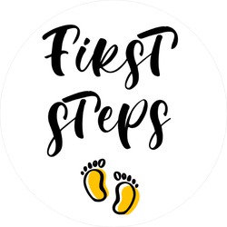 First Steps Sticker