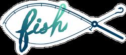 Fishing Rod Fish Sticker