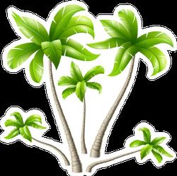 Five Palm Trees Sticker