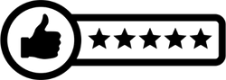 Five Star Rating Sticker